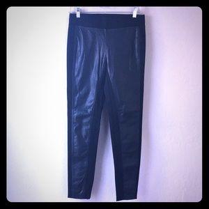 NWT Vegan Leather Ann Taylor Black Spandex Sz. Sm